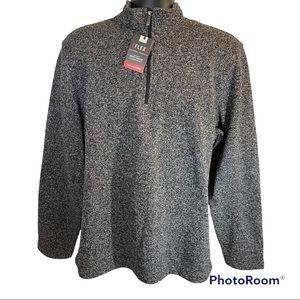 🆕 Van Heusen Flex 1/4 Zip Pullover Classic Fit Men's Size Large